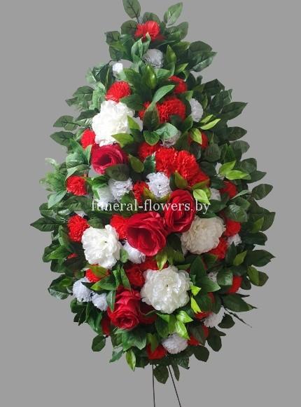 """Ритуальный венок из искусственных цветов """"Каролина"""""""