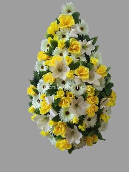 """Ритуальный венок из искусственных цветов """"Жасмин"""""""