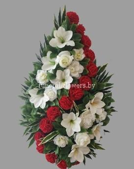 """Ритуальный венок из искусственных цветов """"Беатрис"""""""