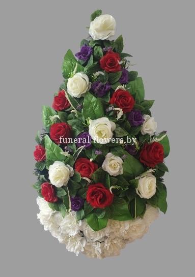 """Ритуальный венок из искусственных цветов """"Фаберже"""""""