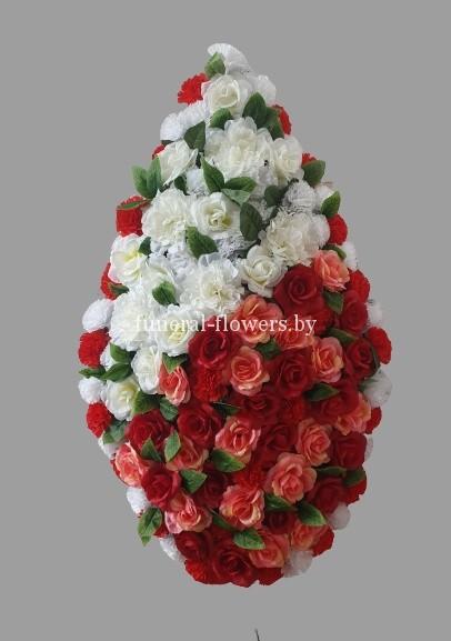 Ритуальный венок из искусственных цветов