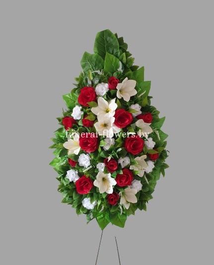 """Ритуальный венок из искусственных цветов """"Каролина 1"""""""